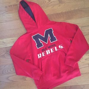 Ol Miss Rebels YOUTH S red hoodie sweatshirt